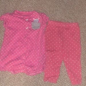 Little girl pink outfit